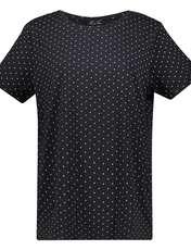 تی شرت یقه گرد زنانه - یوپیم - مشکي - 1