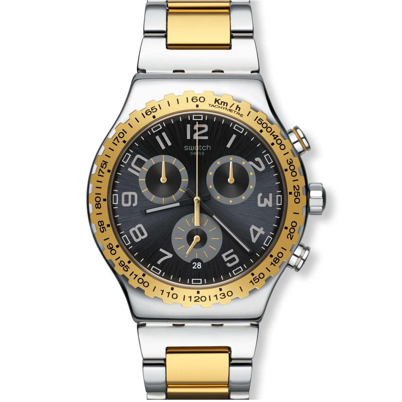 ساعت مچی عقربه ای مردانه سواچ مدل YVS427G 4