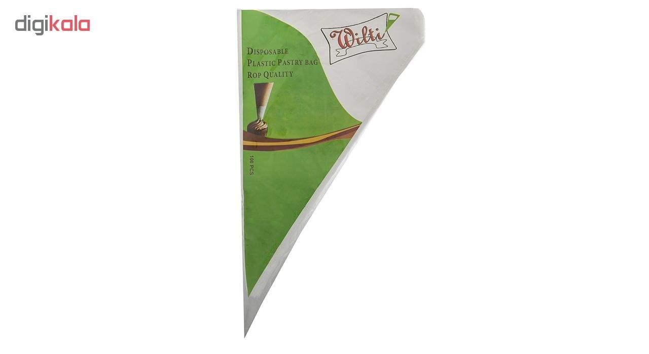 قیف خامه زن یکبار مصرف ویلتی مدل dpr100 بسته 100 عددی main 1 1