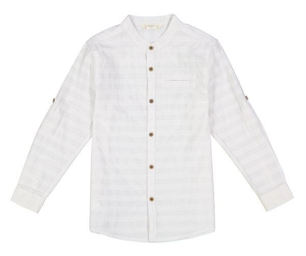 پیراهن نخی آستین بلند پسرانه - مانگو