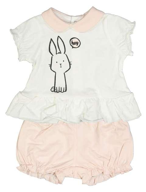 تی شرت و شلوارک نخی نوزادی دخترانه - بلوکیدز