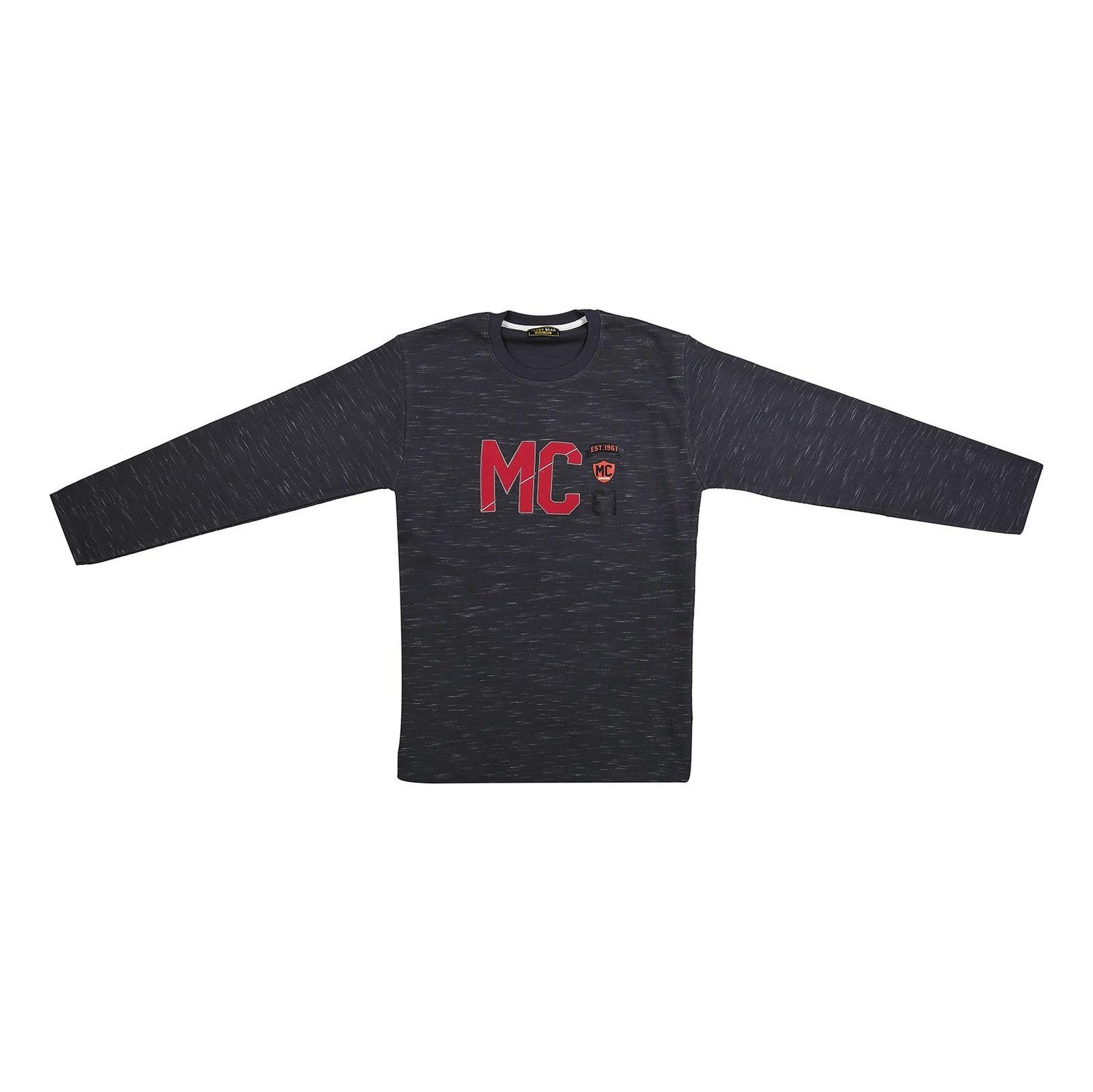 تی شرت نخی آستین بلند پسرانه MC - خرس کوچولو - دودي  - 1