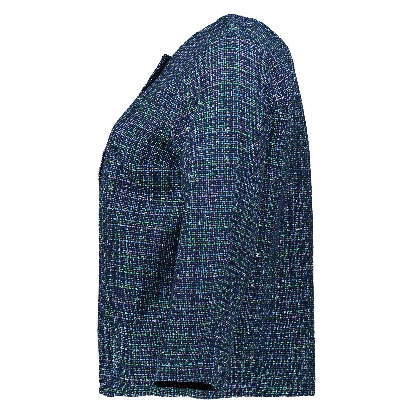 کت نخی کوتاه زنانه - یوپیم - آبي و سبز - 2