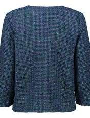 کت نخی کوتاه زنانه - یوپیم - آبي و سبز - 3