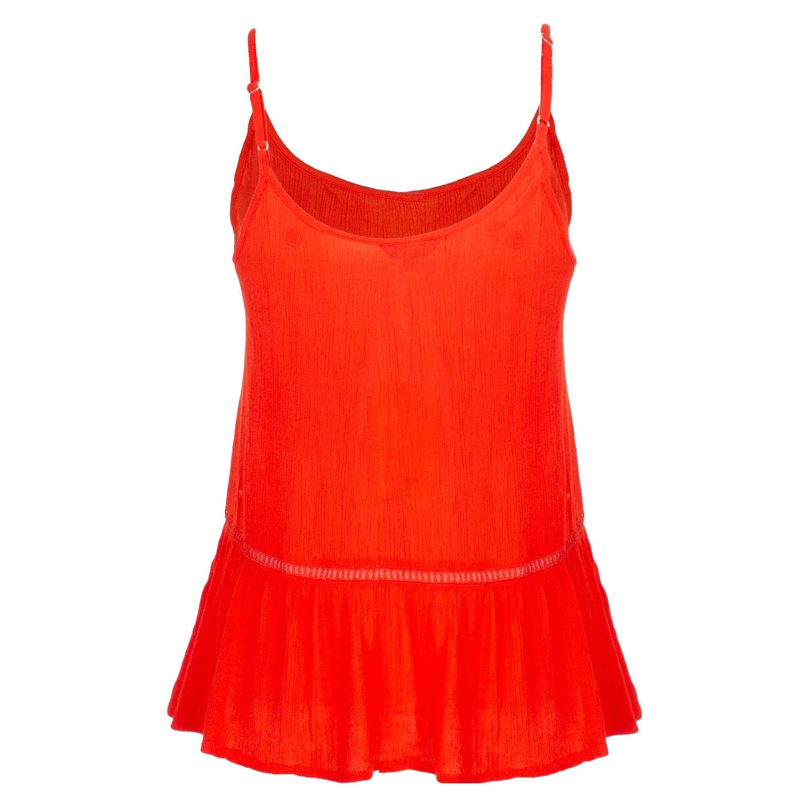 تاپ ویسکوز بندی زنانه - ام بای ام - نارنجي  - 1