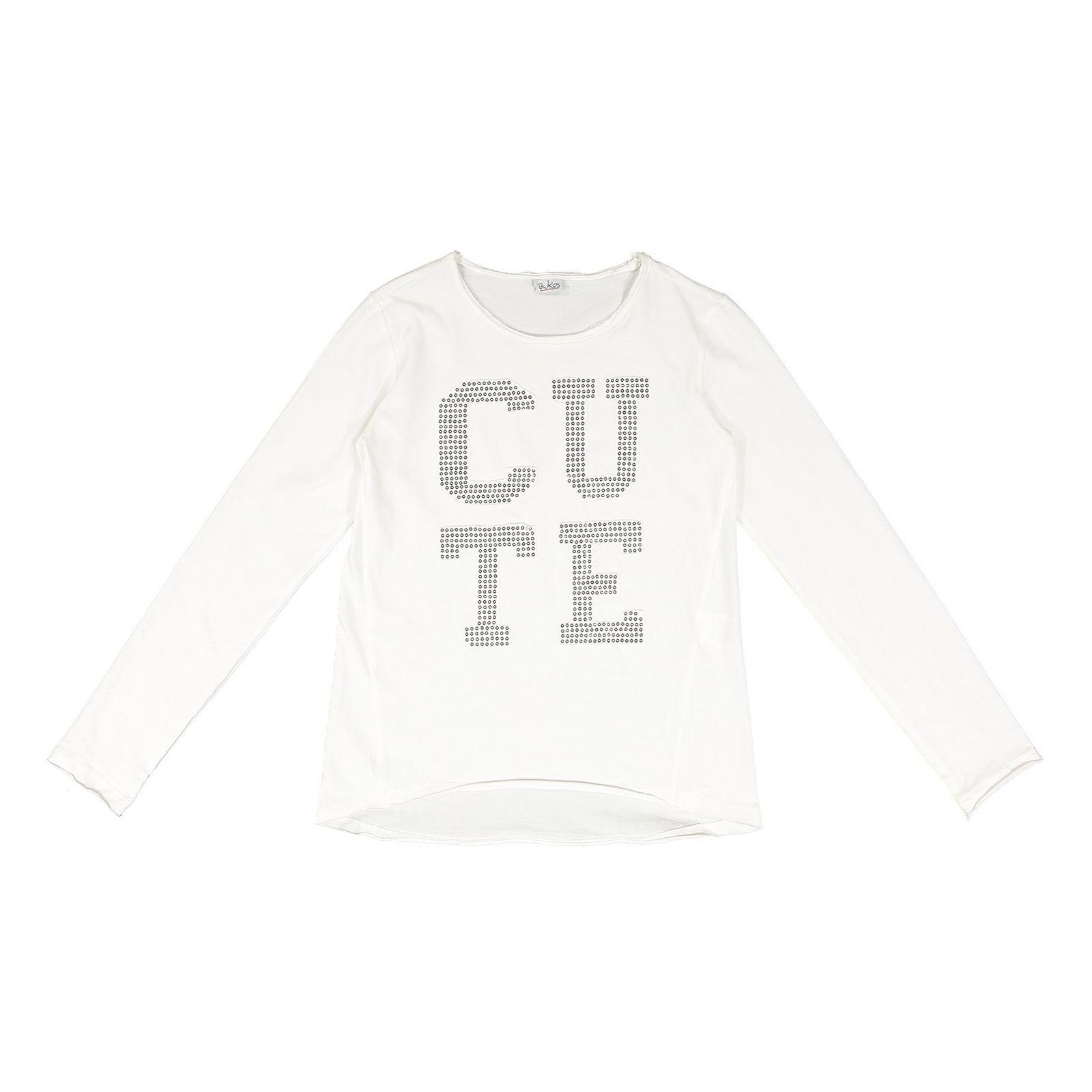 تی شرت نخی دخترانه - بلوکیدز - سفید - 1