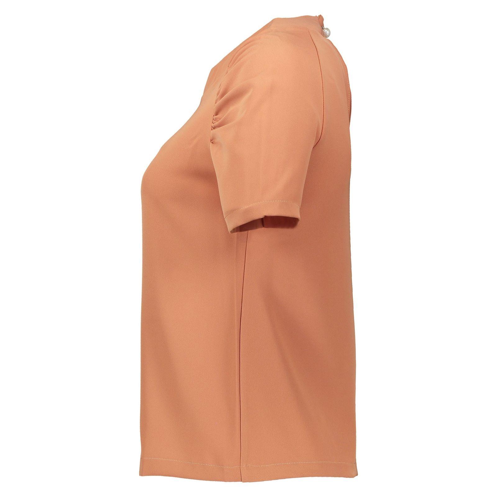 بلوز یقه گرد زنانه - امپریال - نارنجي - 3