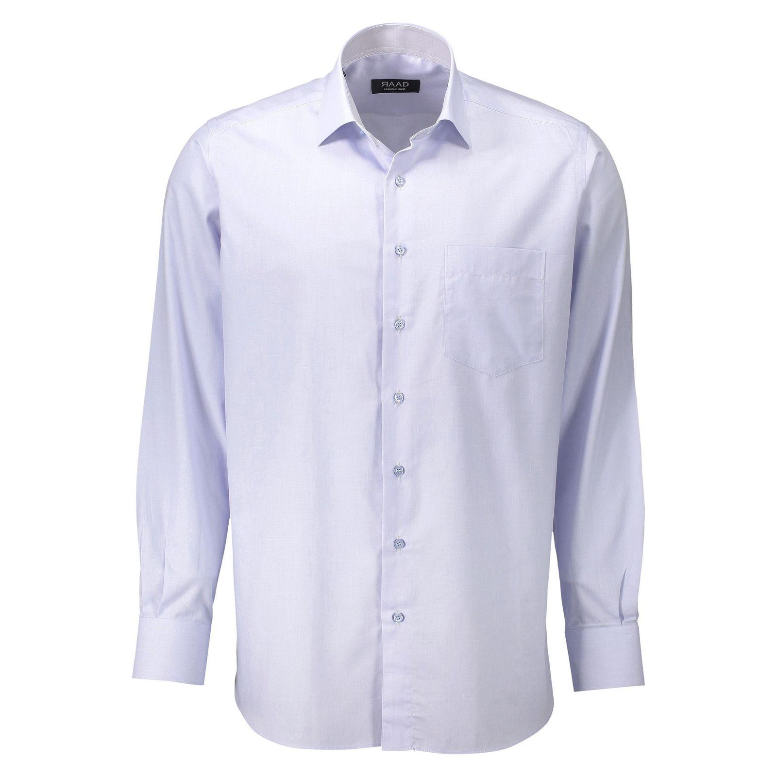 پیراهن آستین بلند مردانه - خانه مد راد - آبي روشن - 1