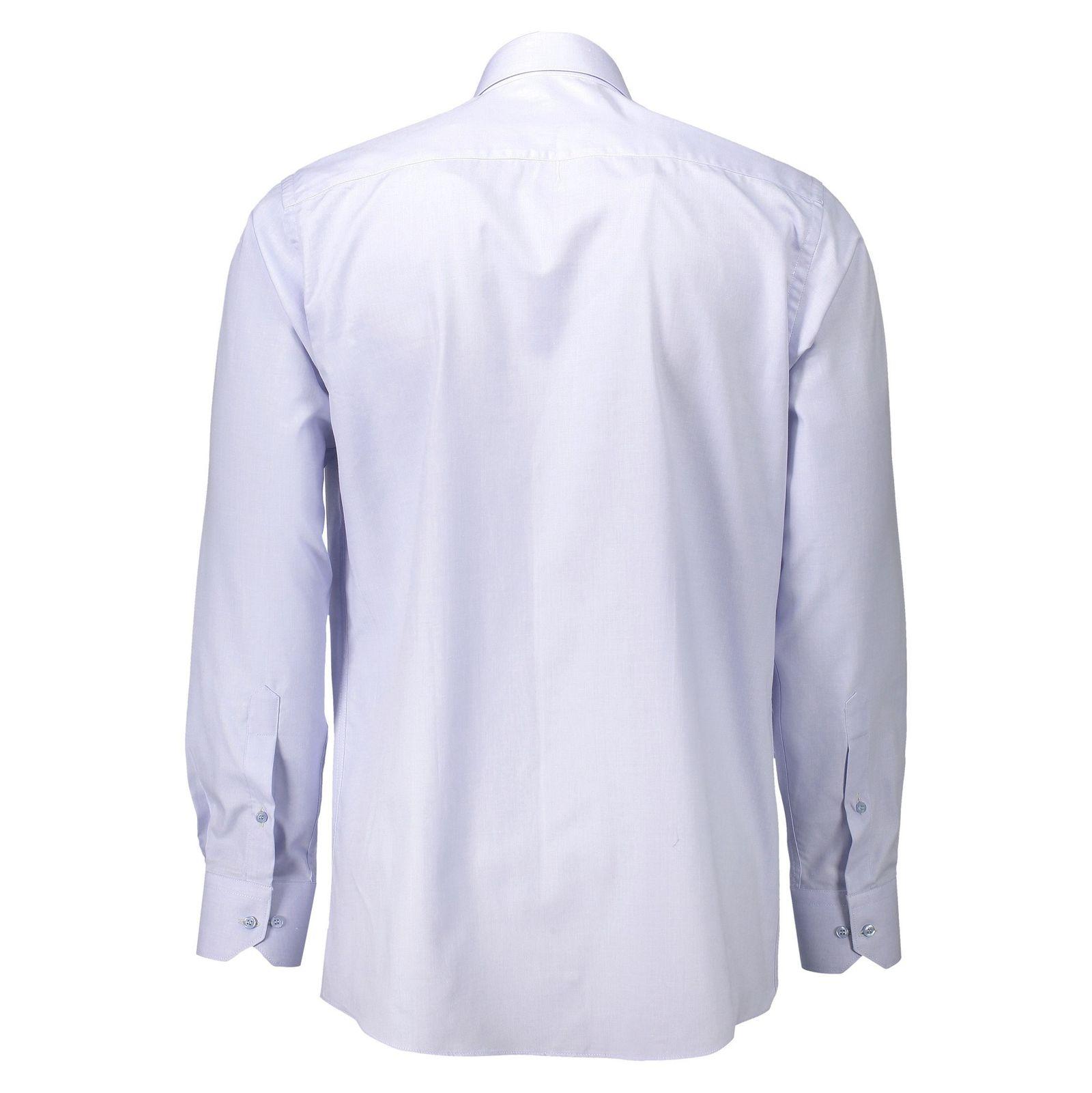 پیراهن آستین بلند مردانه - خانه مد راد - آبي روشن - 2