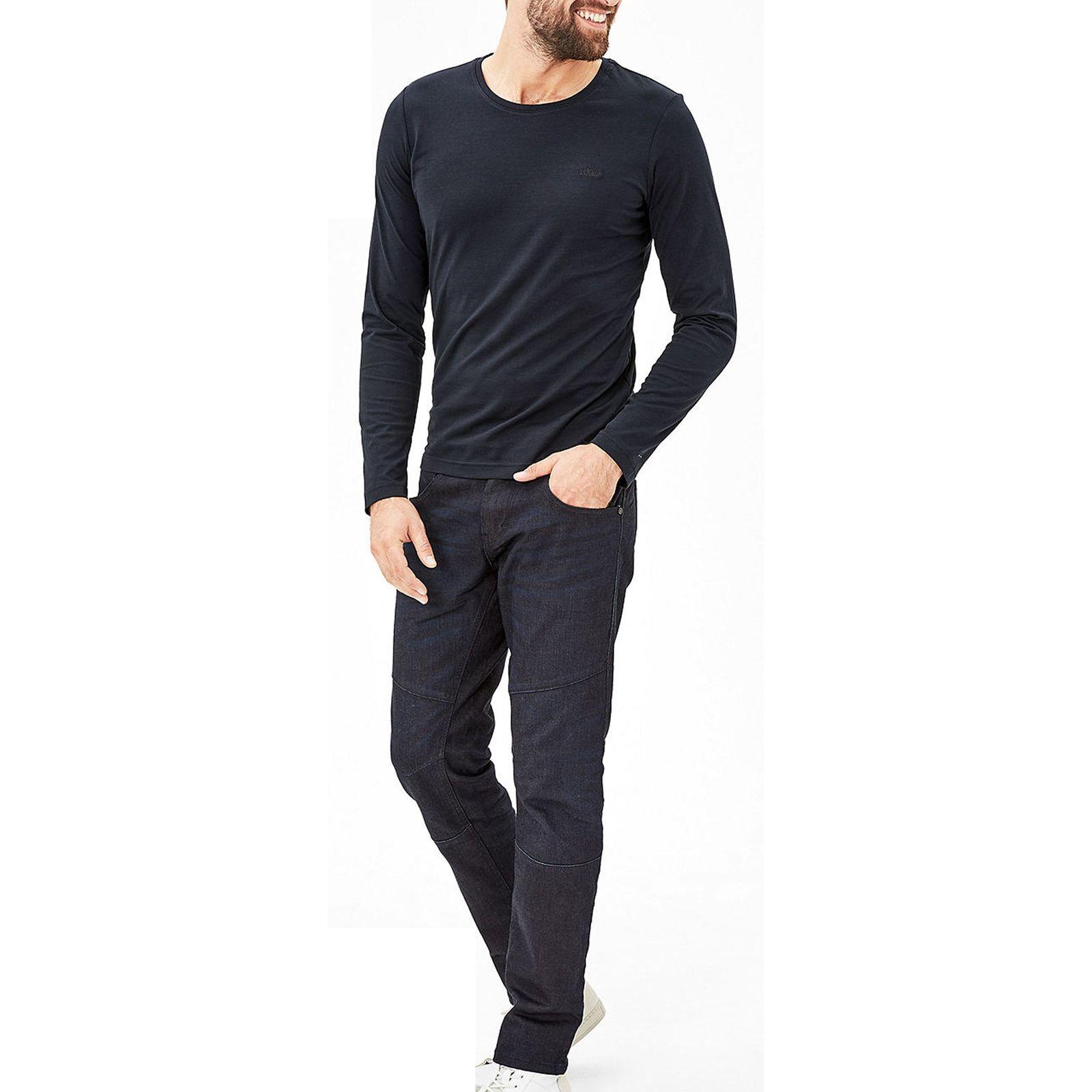 تی شرت نخی آستین بلند مردانه - اس.اولیور - سرمه اي تيره - 2