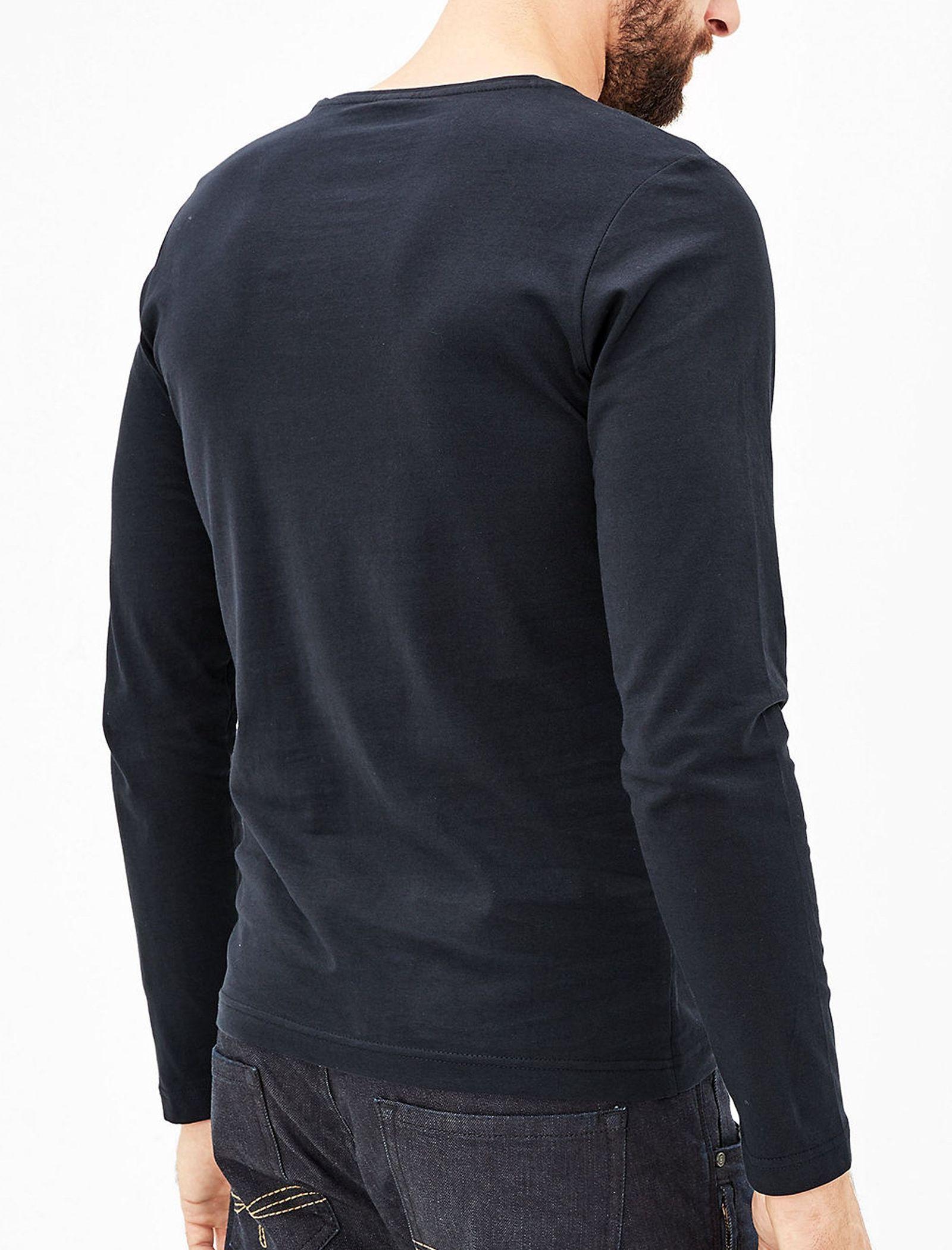 تی شرت نخی آستین بلند مردانه - اس.اولیور - سرمه اي تيره - 3