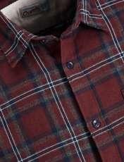 پیراهن نخی آستین بلند مردانه - جک اند جونز - زرشکي - 5