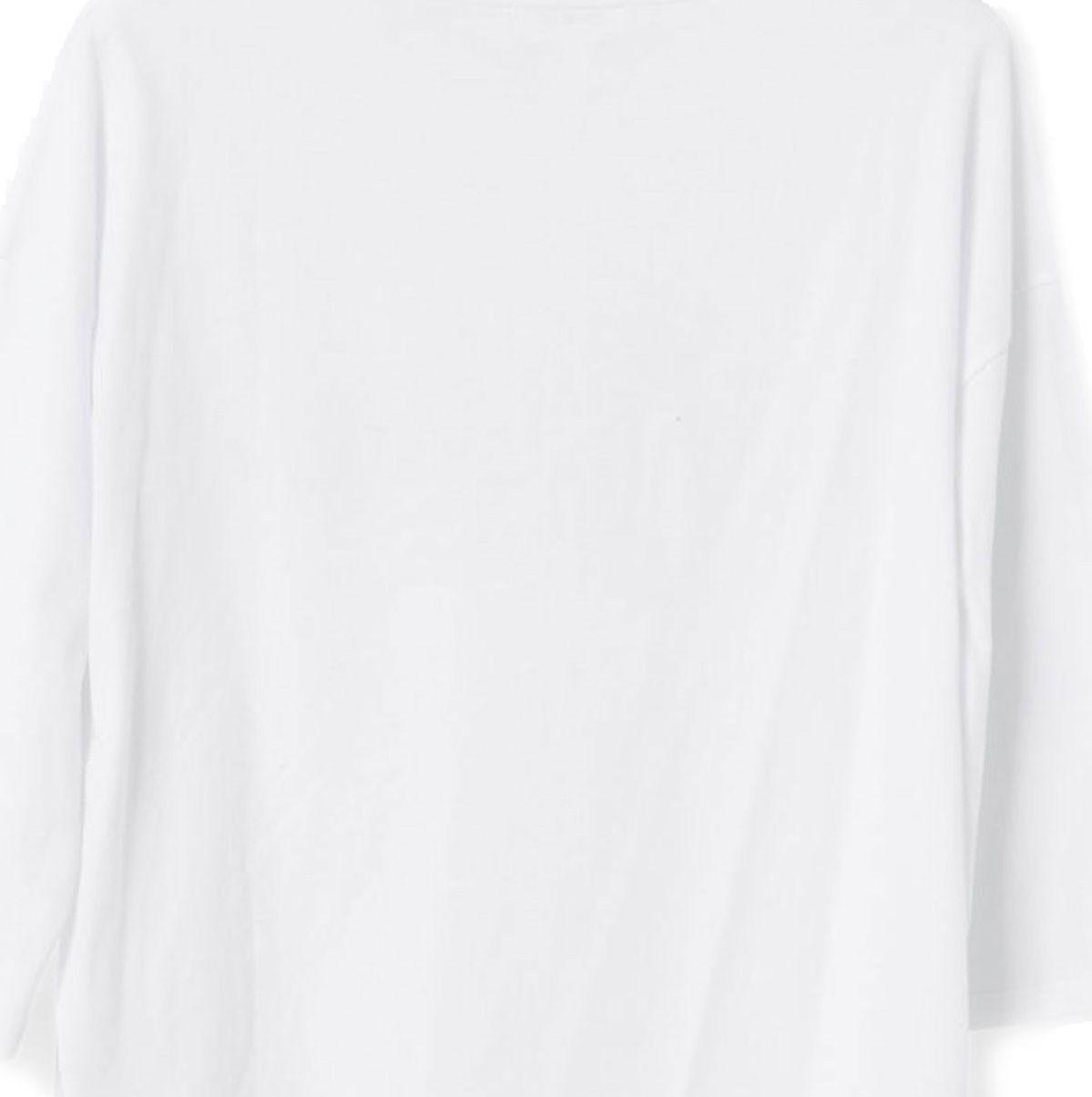 تی شرت نخی یقه گرد زنانه - جنیفر - سفيد   - 2