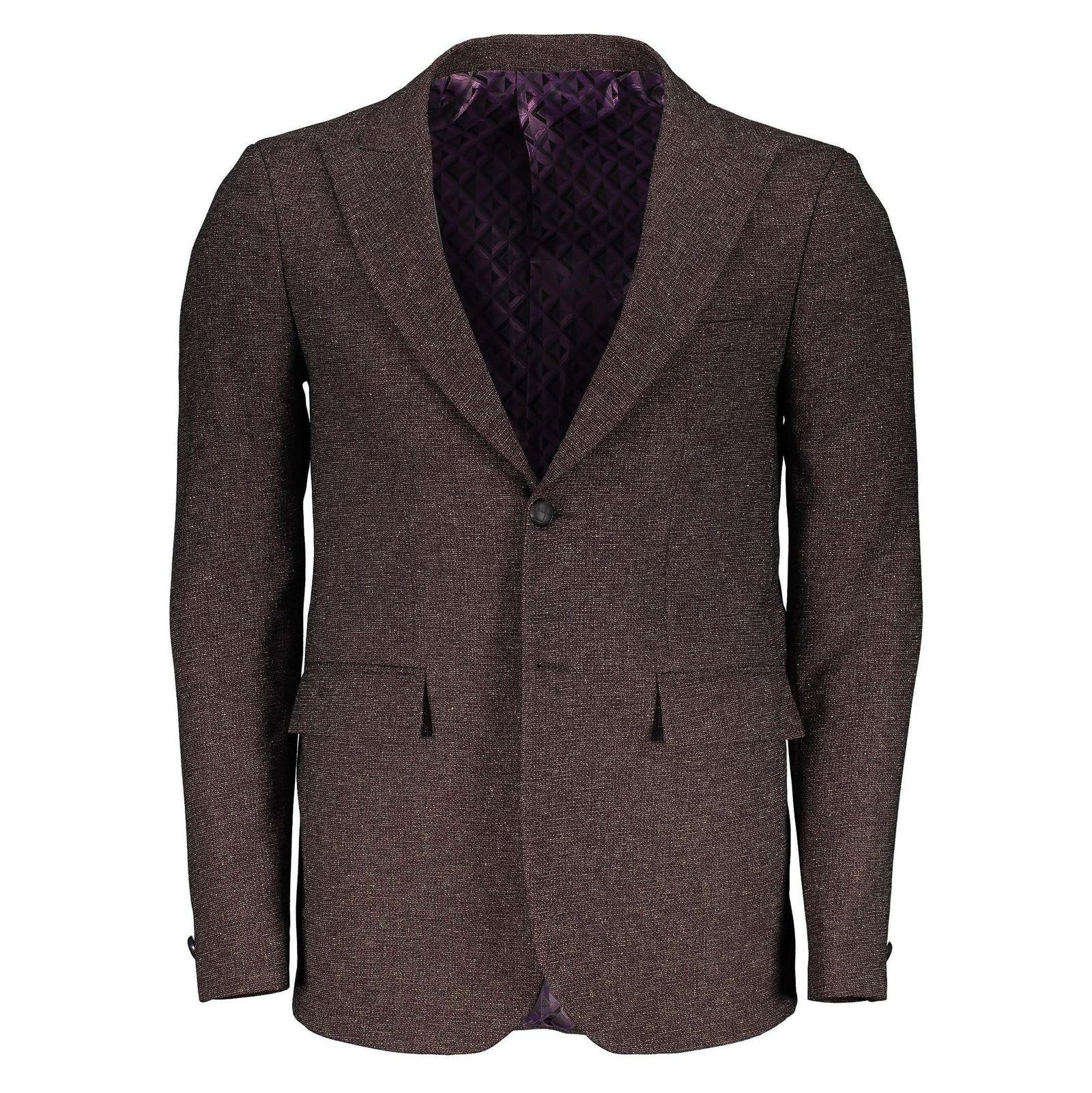 کت تک غیر رسمی مردانه - خانه مد راد - بنفش - 1