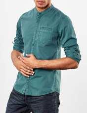 پیراهن نخی آستین بلند مردانه - اس.اولیور - سبز - 2
