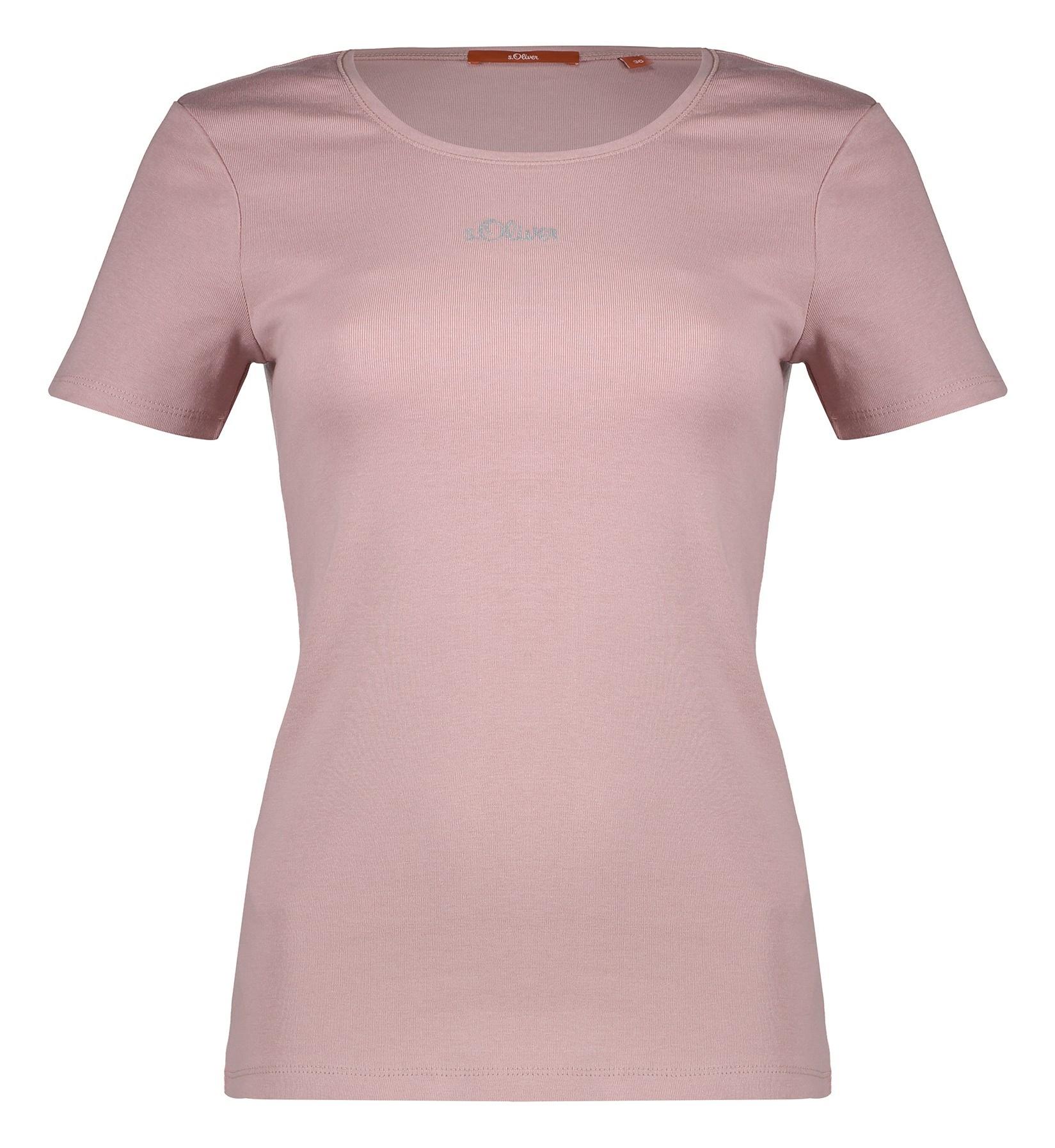 تی شرت نخی یقه گرد زنانه - اس.اولیور