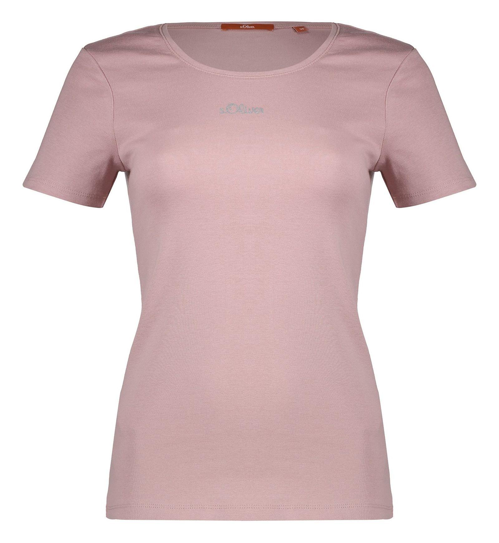 تی شرت نخی یقه گرد زنانه - اس.اولیور - رز گلد - 2