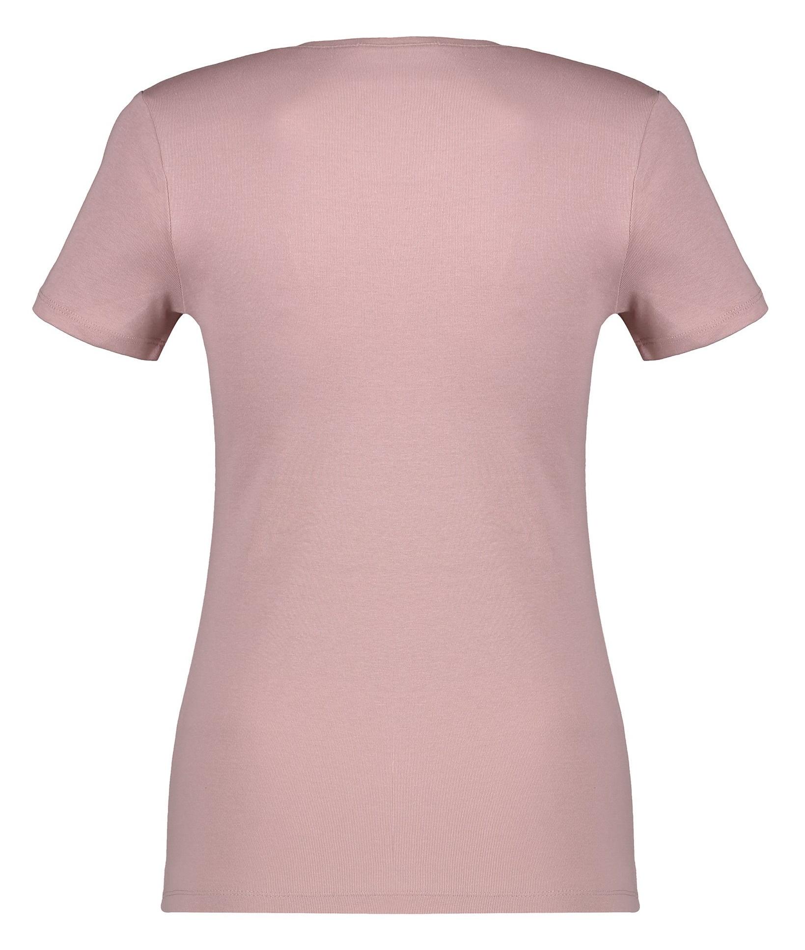 تی شرت نخی یقه گرد زنانه - اس.اولیور - رز گلد - 4