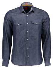 پیراهن آستین بلند مردانه - اس.اولیور - آبي  - 1