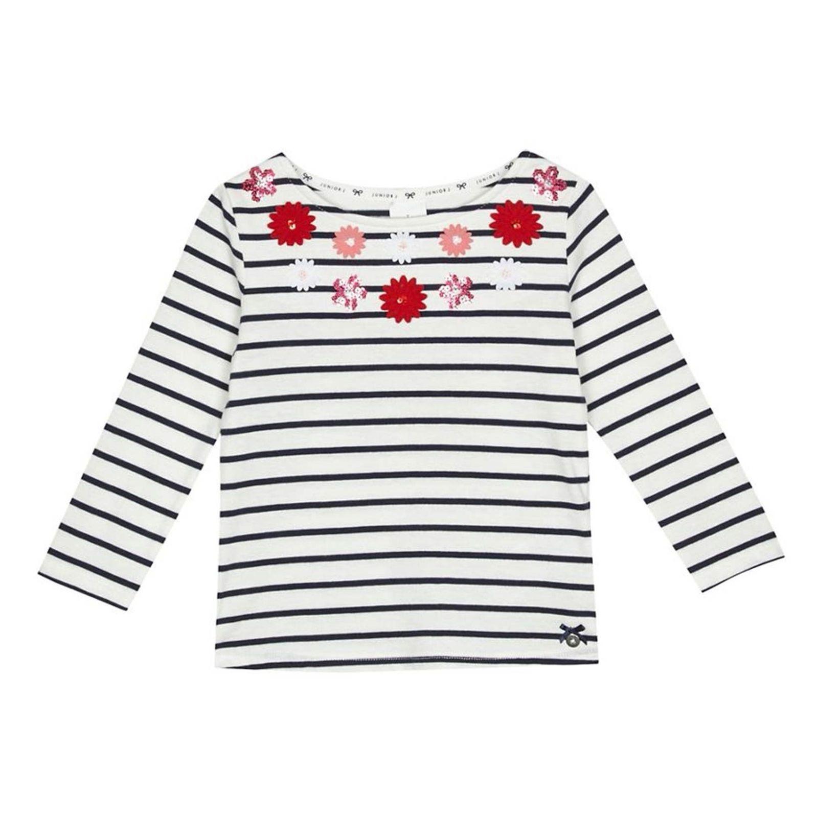 تی شرت نخی آستین بلند دخترانه - جی بای جسپرکنران - سفيد - 1