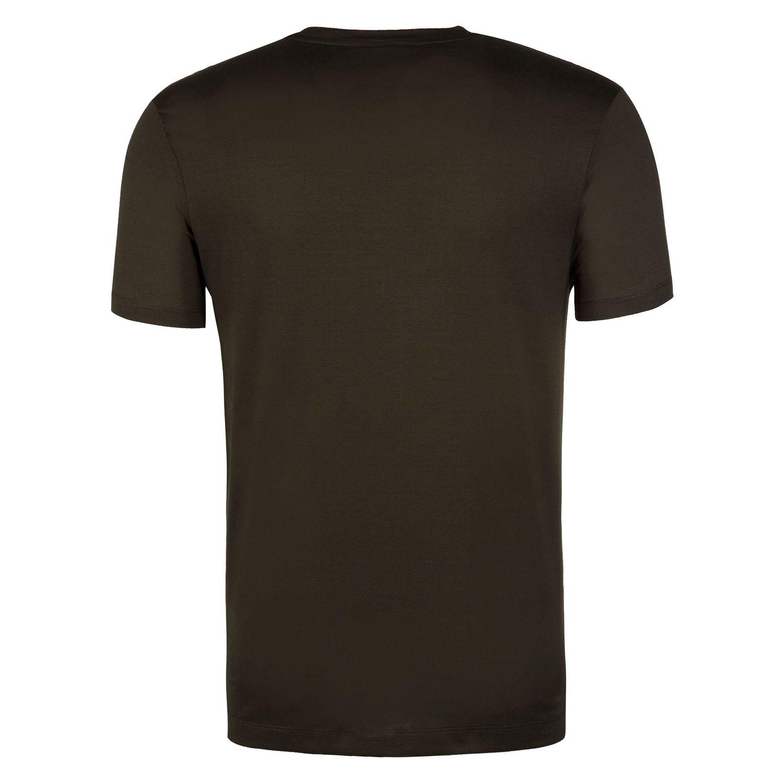 تی شرت نخی یقه گرد مردانه - پاول اند شارک - زيتوني تيره - 2