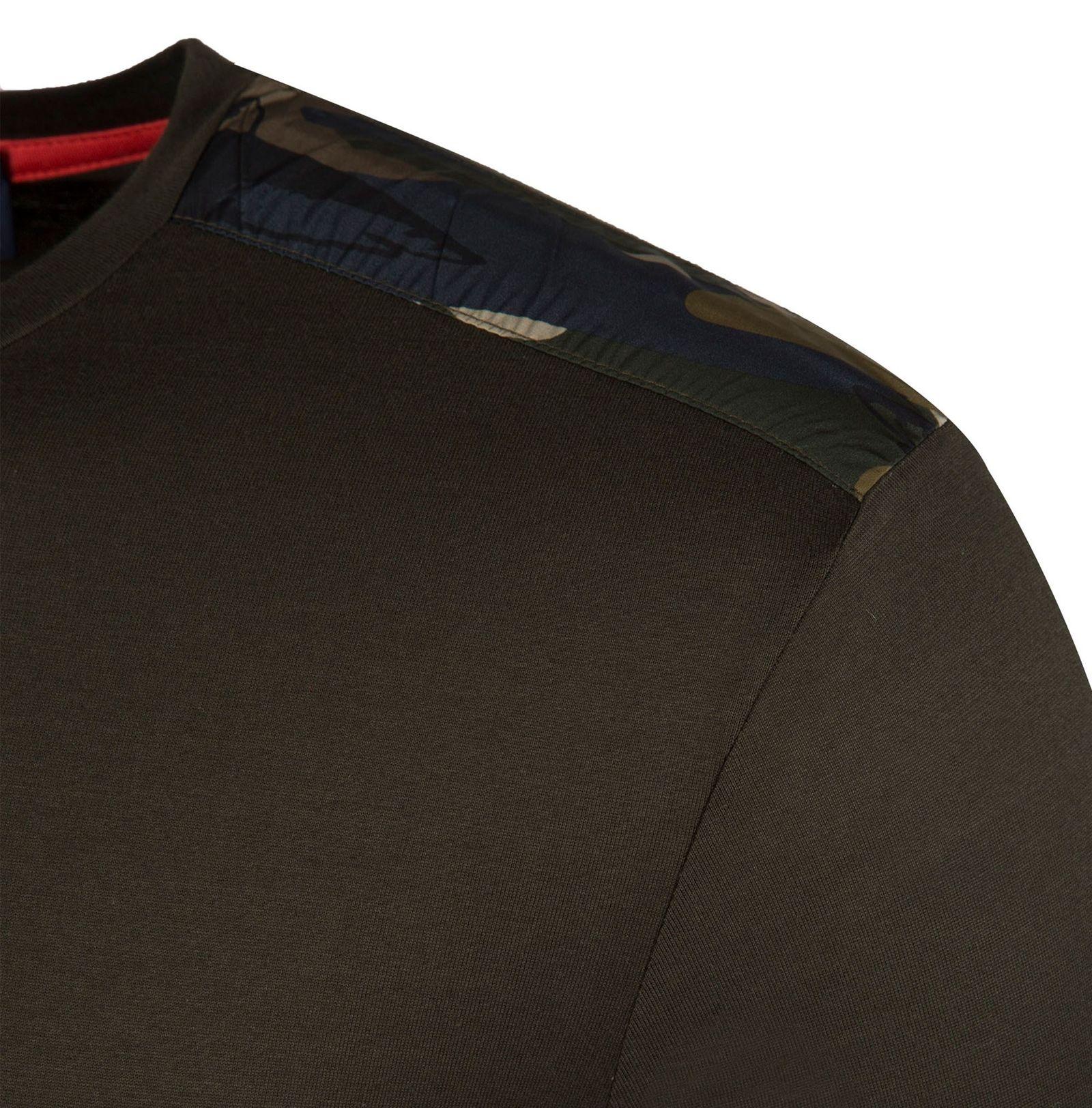 تی شرت نخی یقه گرد مردانه - پاول اند شارک - زيتوني تيره - 4