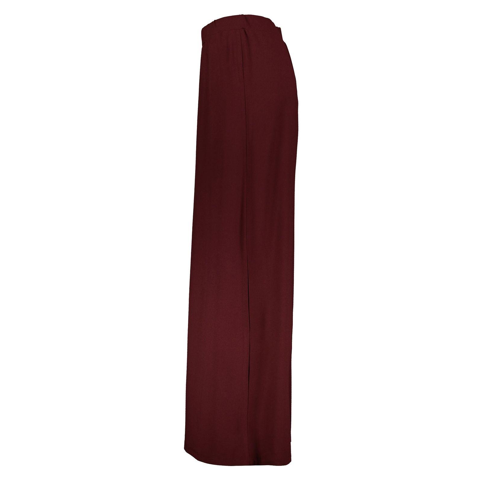 دامن ویسکوز بلند زنانه - جنیفر - زرشکي - 3