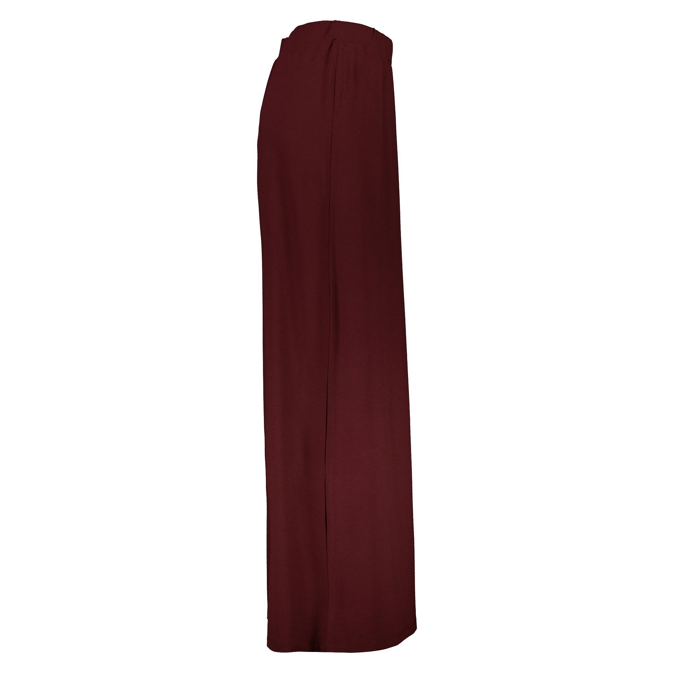 دامن ویسکوز بلند زنانه - جنیفر - زرشکي - 4