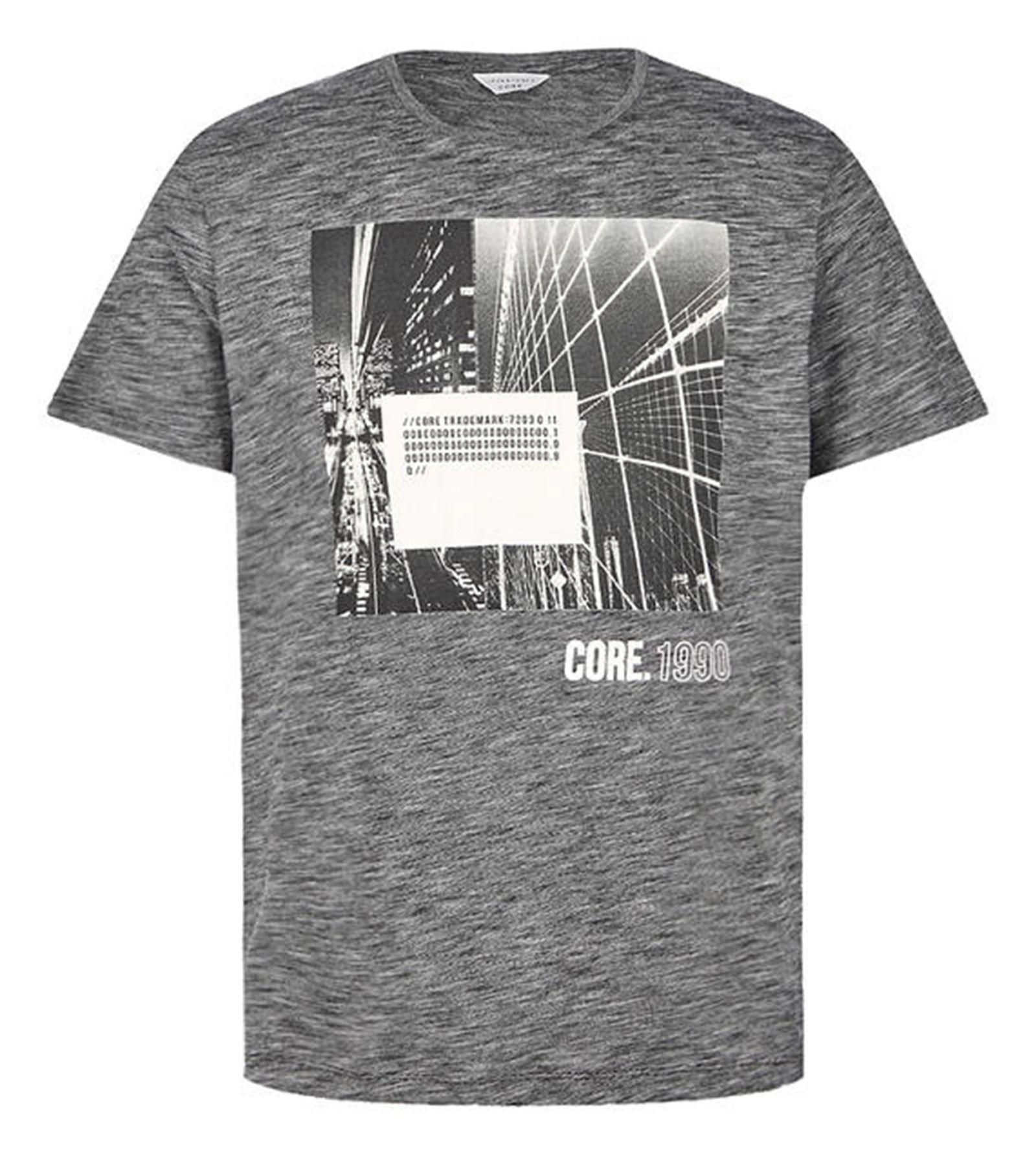 تی شرت یقه گرد مردانه - جک اند جونز - مشکي - 1