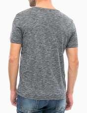 تی شرت یقه گرد مردانه - جک اند جونز - مشکي - 3