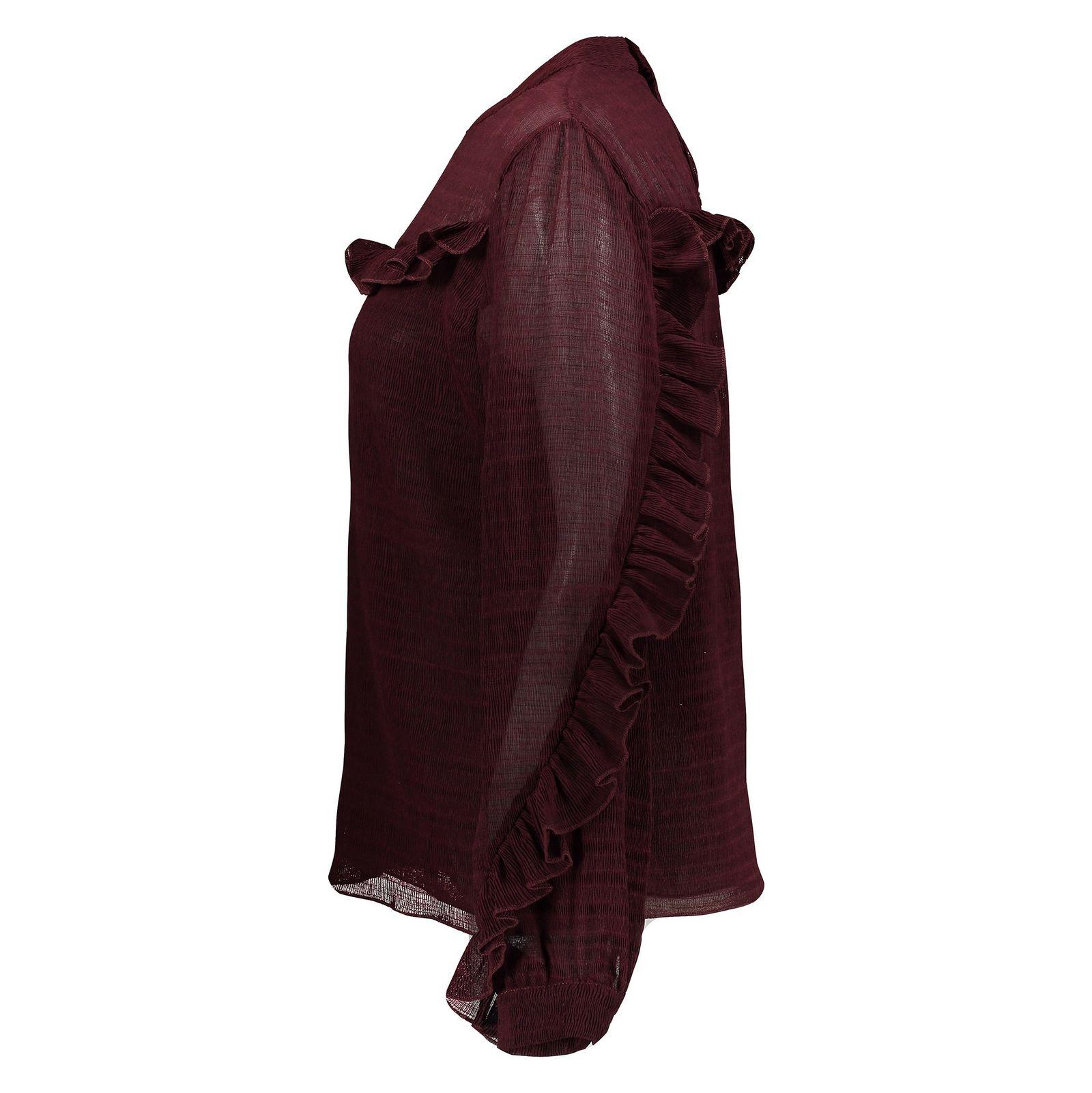 بلوز آستین بلند زنانه - پی سز - زرشکي - 3