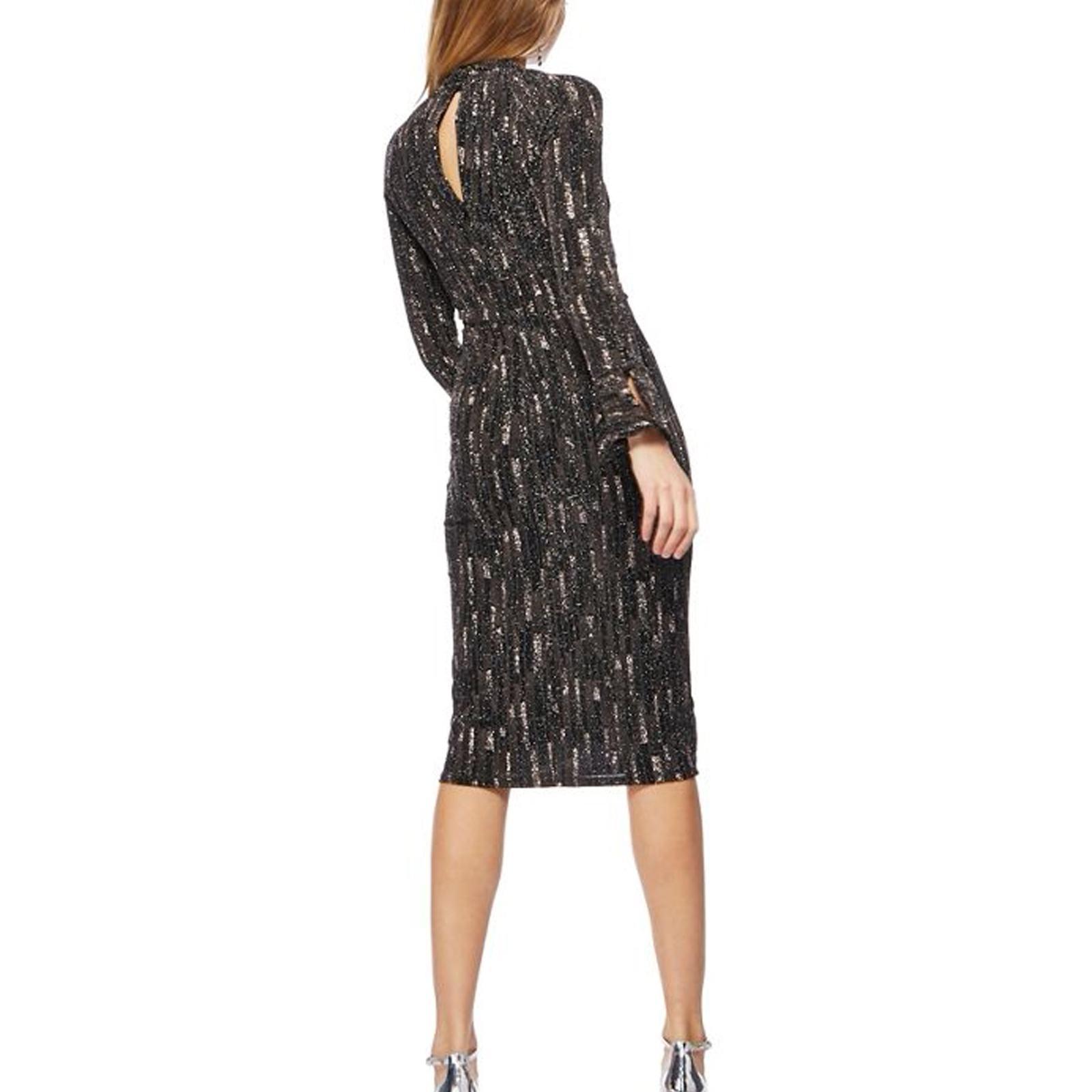 پیراهن میدی زنانه - پرینسیپلز - زغالي - 3