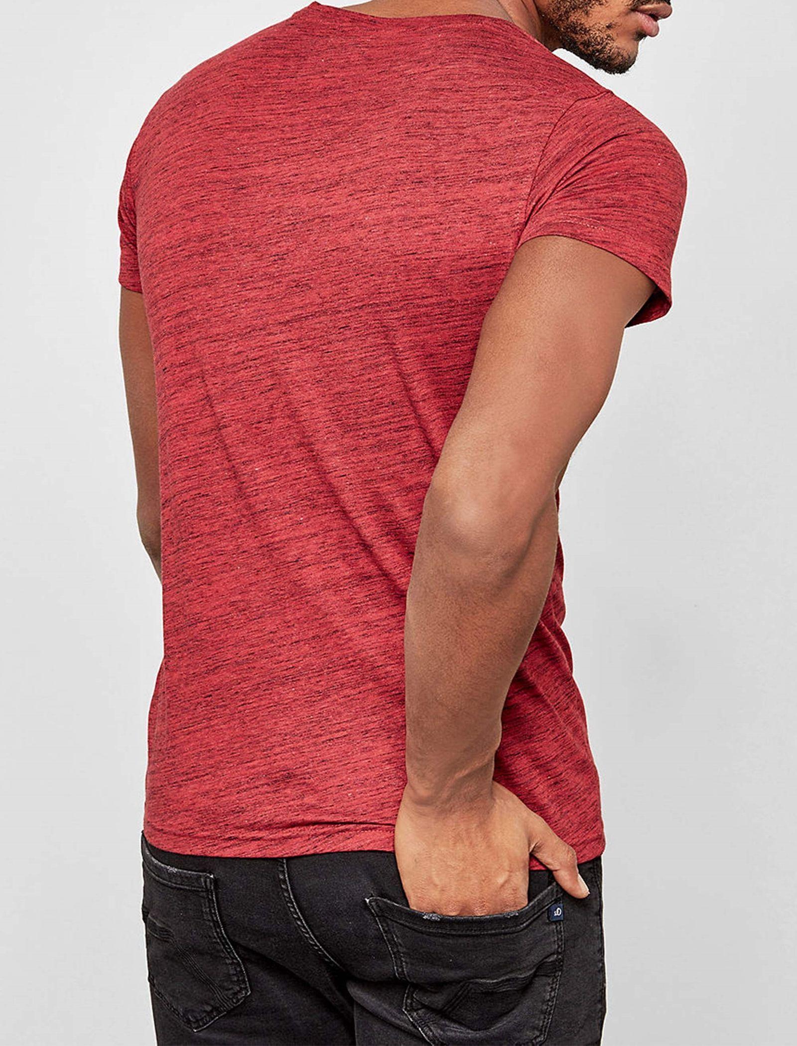 تی شرت نخی یقه گرد مردانه - اس.اولیور - قرمز - 3