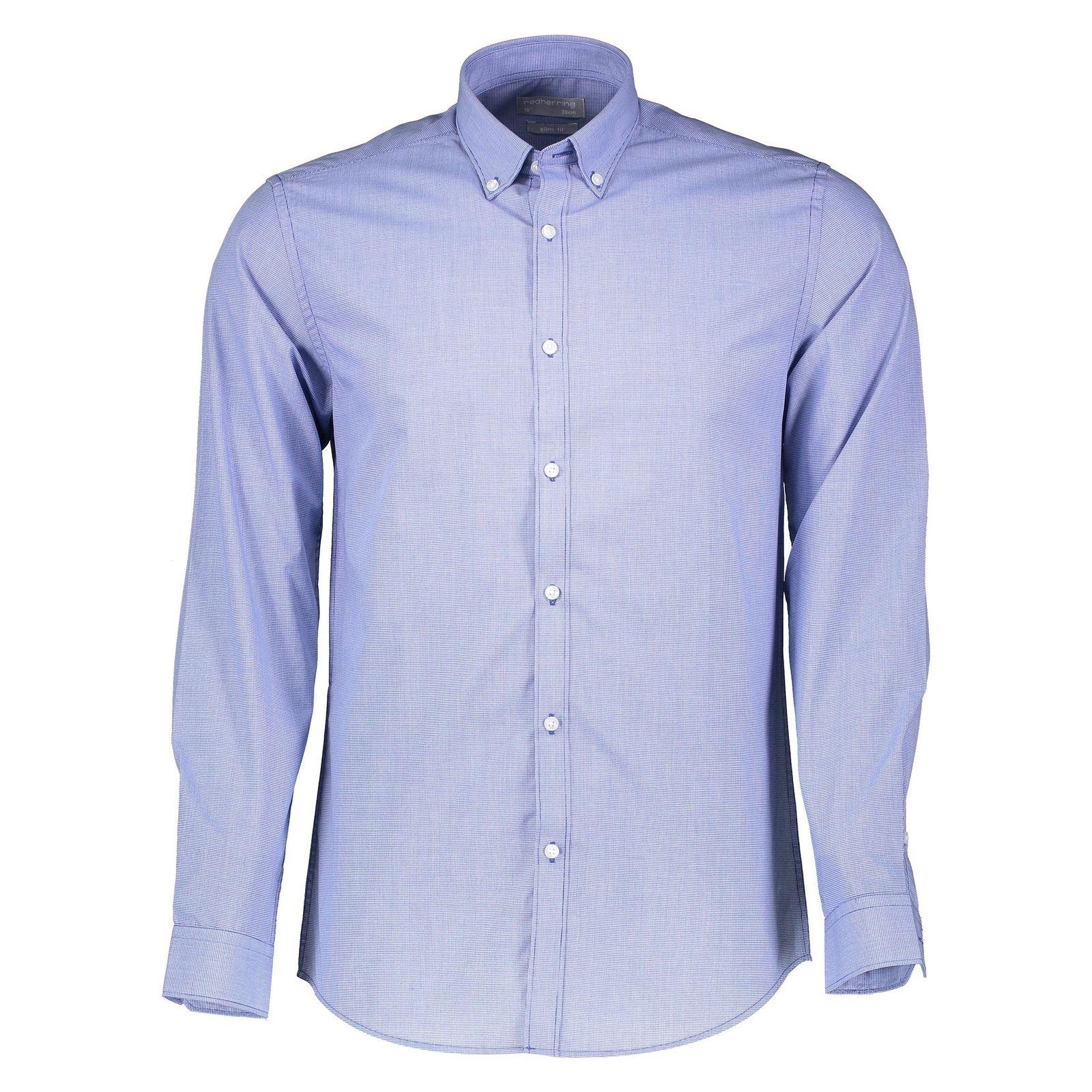 پیراهن آستین بلند مردانه - رد هرینگ - آبي - 1