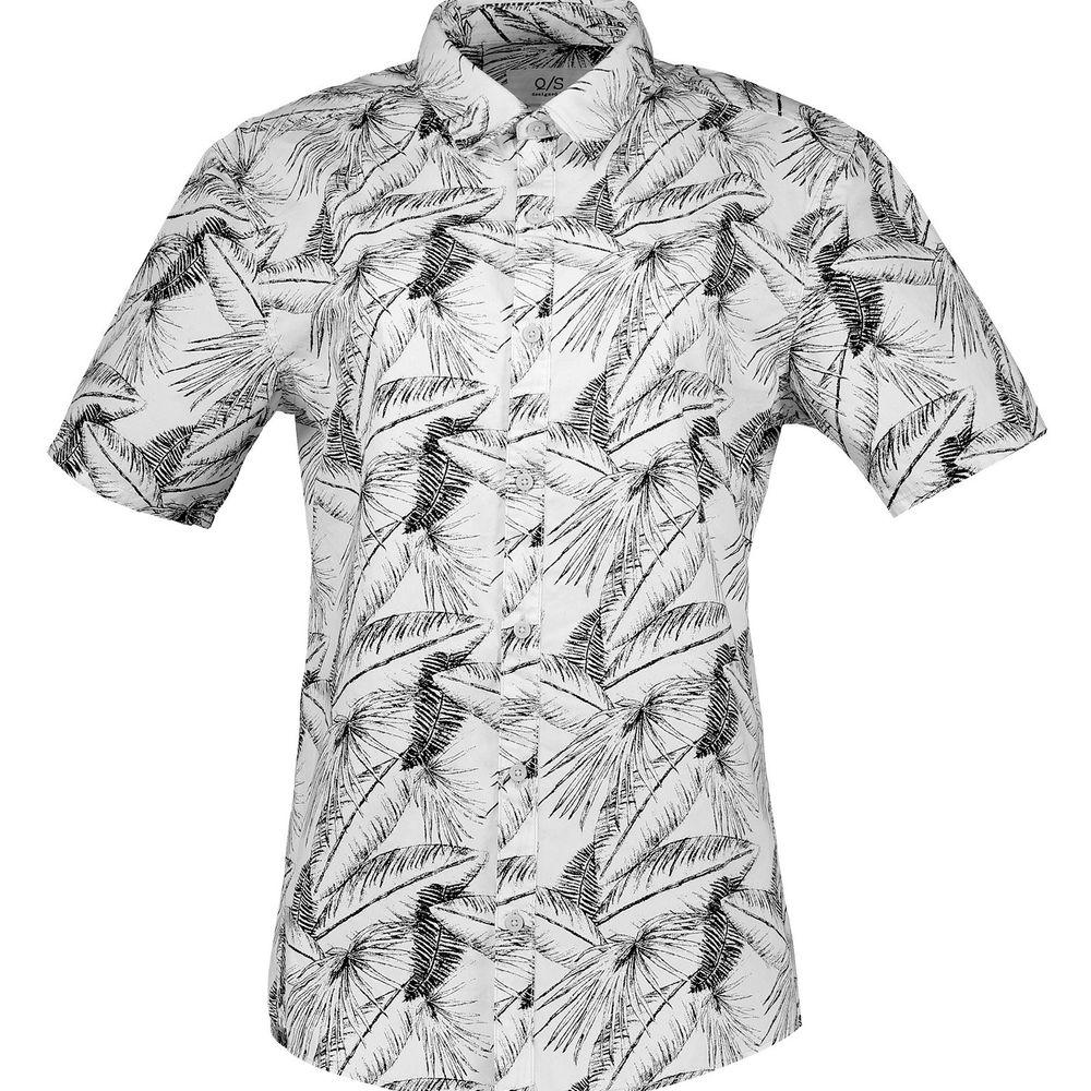 پیراهن نخی آستین کوتاه مردانه - اس.اولیور