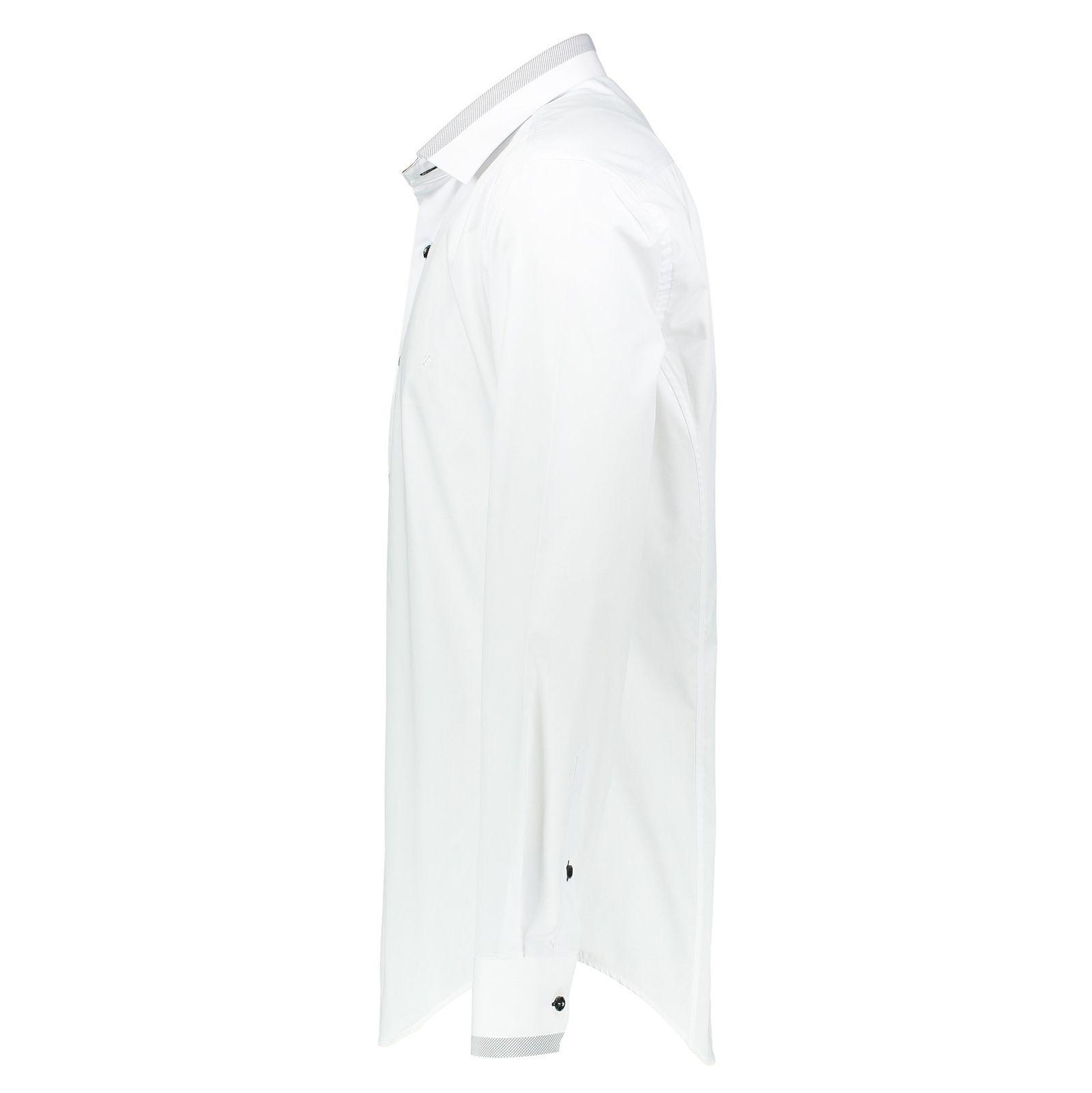 پیراهن رسمی مردانه - زاگرس پوش - سفيد - 3