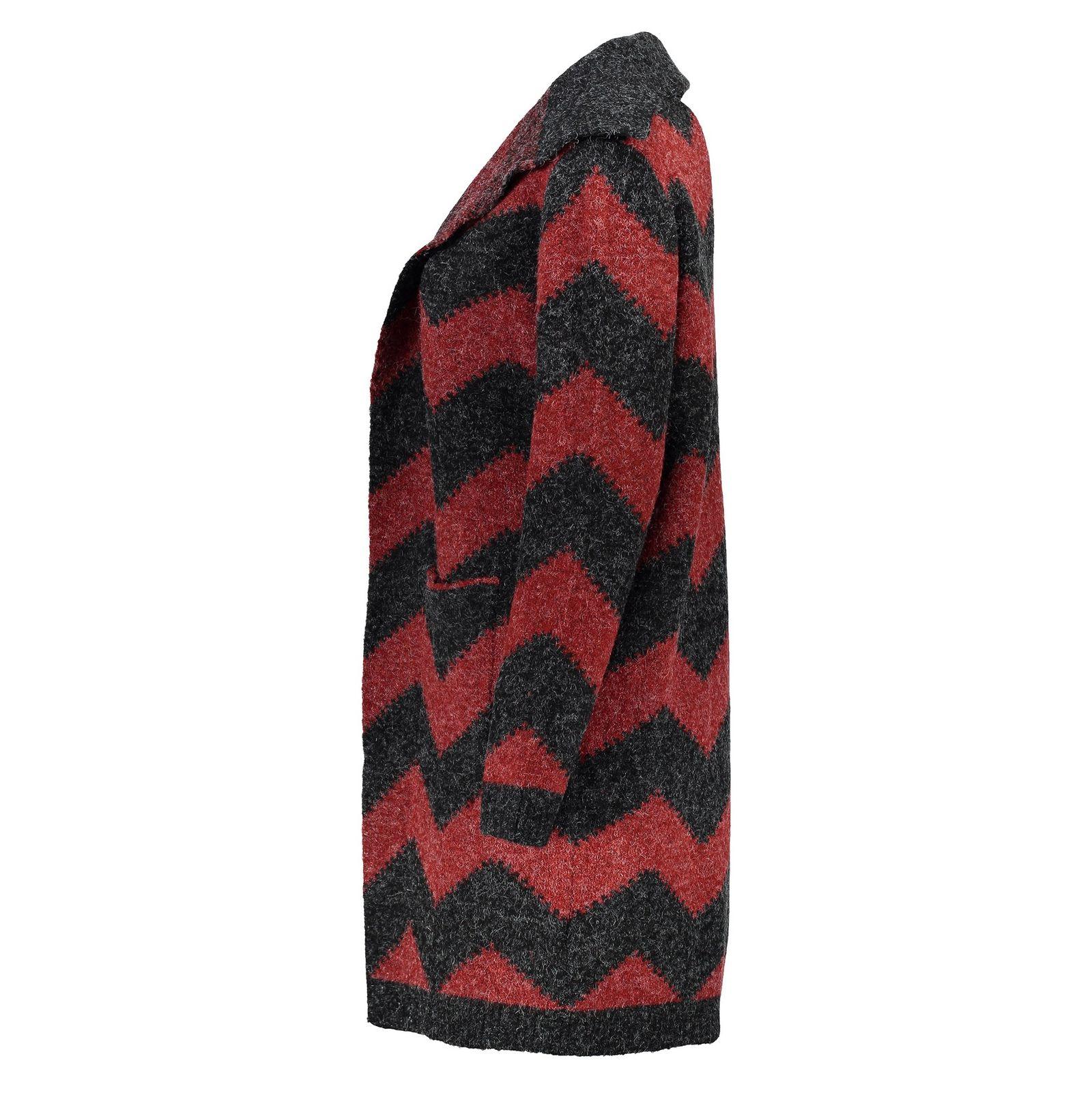 رویه بافت زنانه - اونلی - قرمز و زغالي - 3
