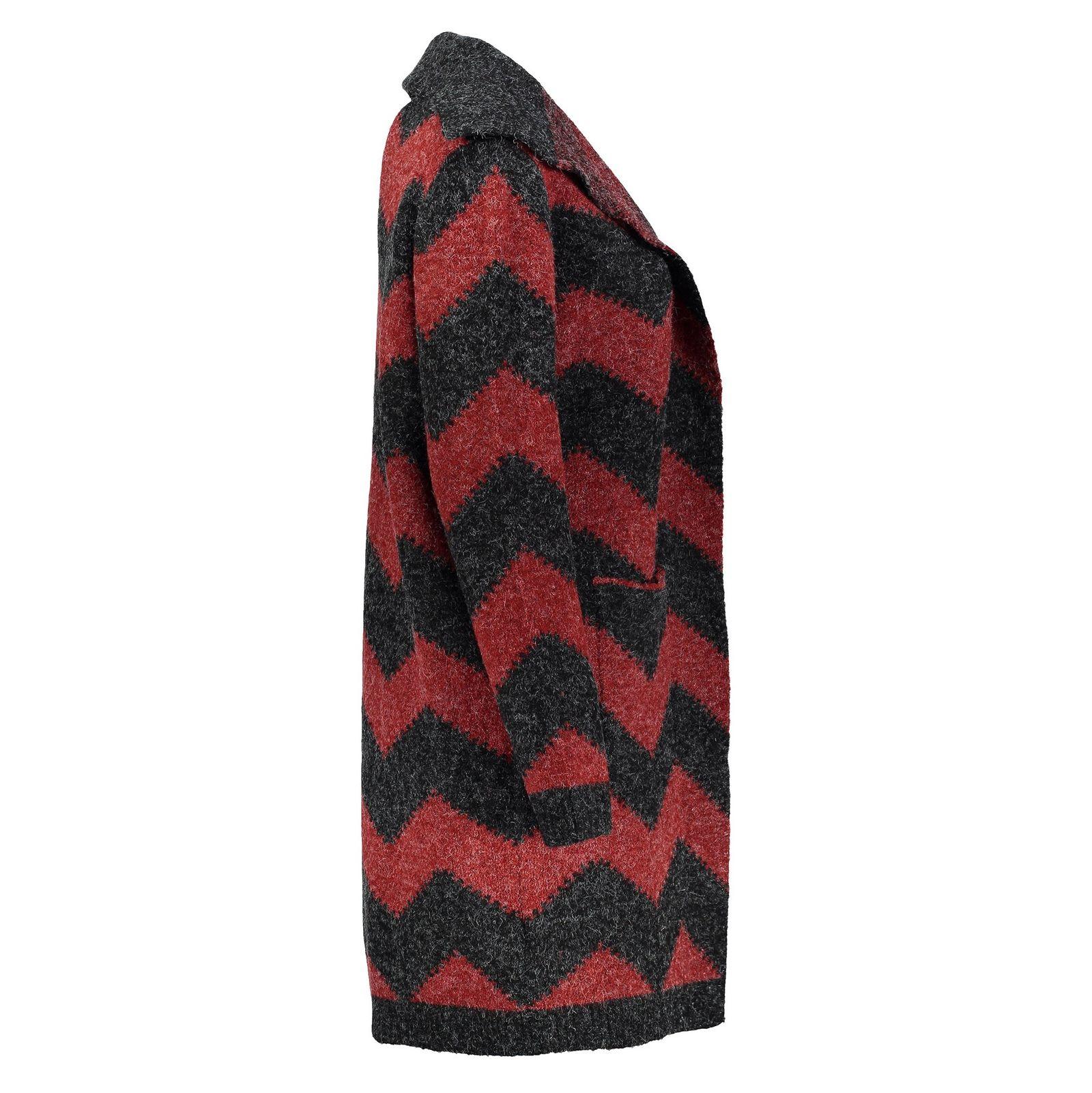 رویه بافت زنانه - اونلی - قرمز و زغالي - 4