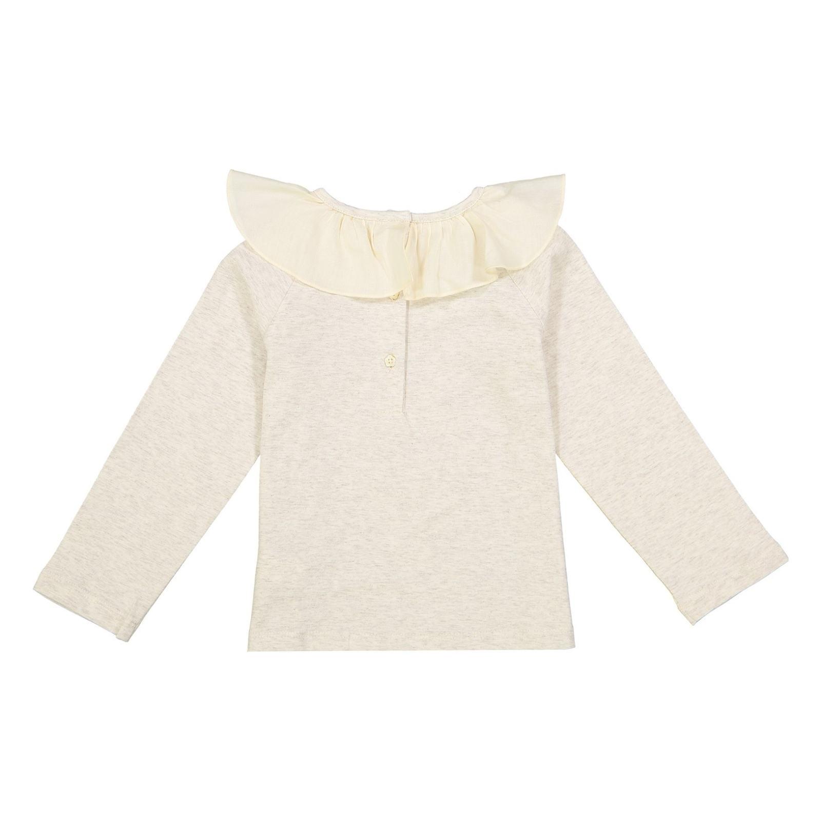 تی شرت و دامن نخی نوزادی دخترانه - مانسون چیلدرن - صورتي/طوسي - 3
