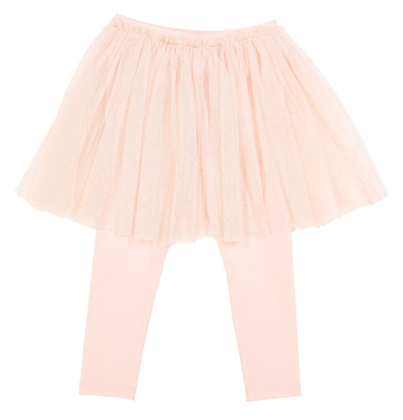 تی شرت و دامن نخی نوزادی دخترانه - مانسون چیلدرن - صورتي/طوسي - 4