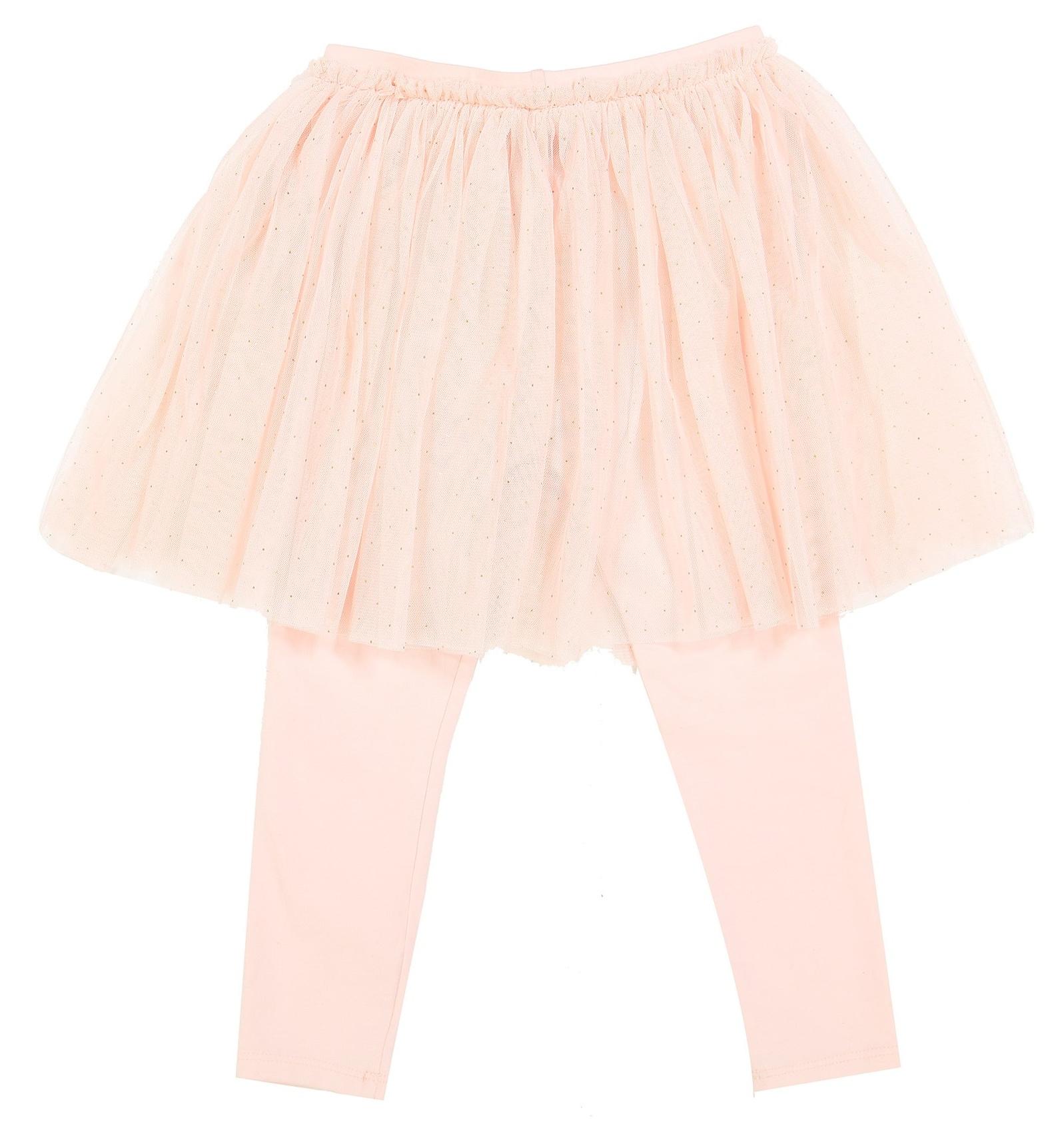 تی شرت و دامن نخی نوزادی دخترانه - مانسون چیلدرن - صورتي/طوسي - 5