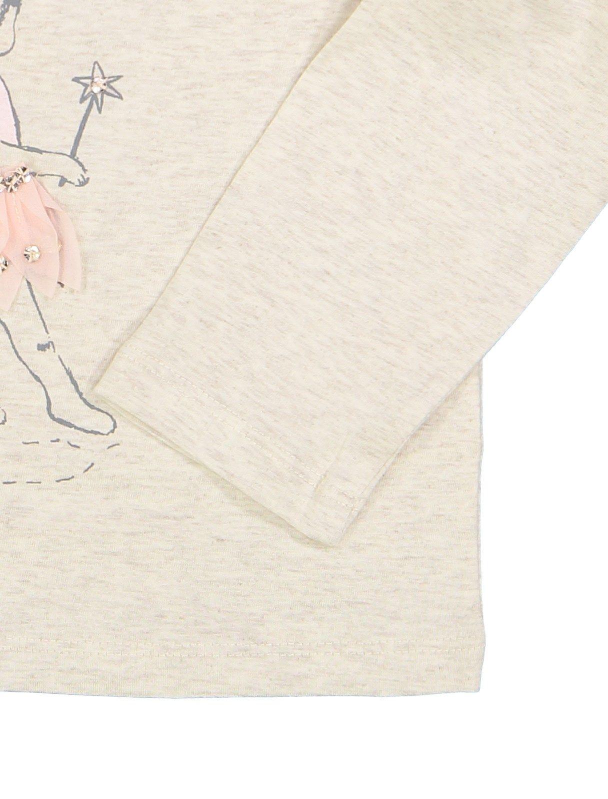 تی شرت و دامن نخی نوزادی دخترانه - مانسون چیلدرن - صورتي/طوسي - 6