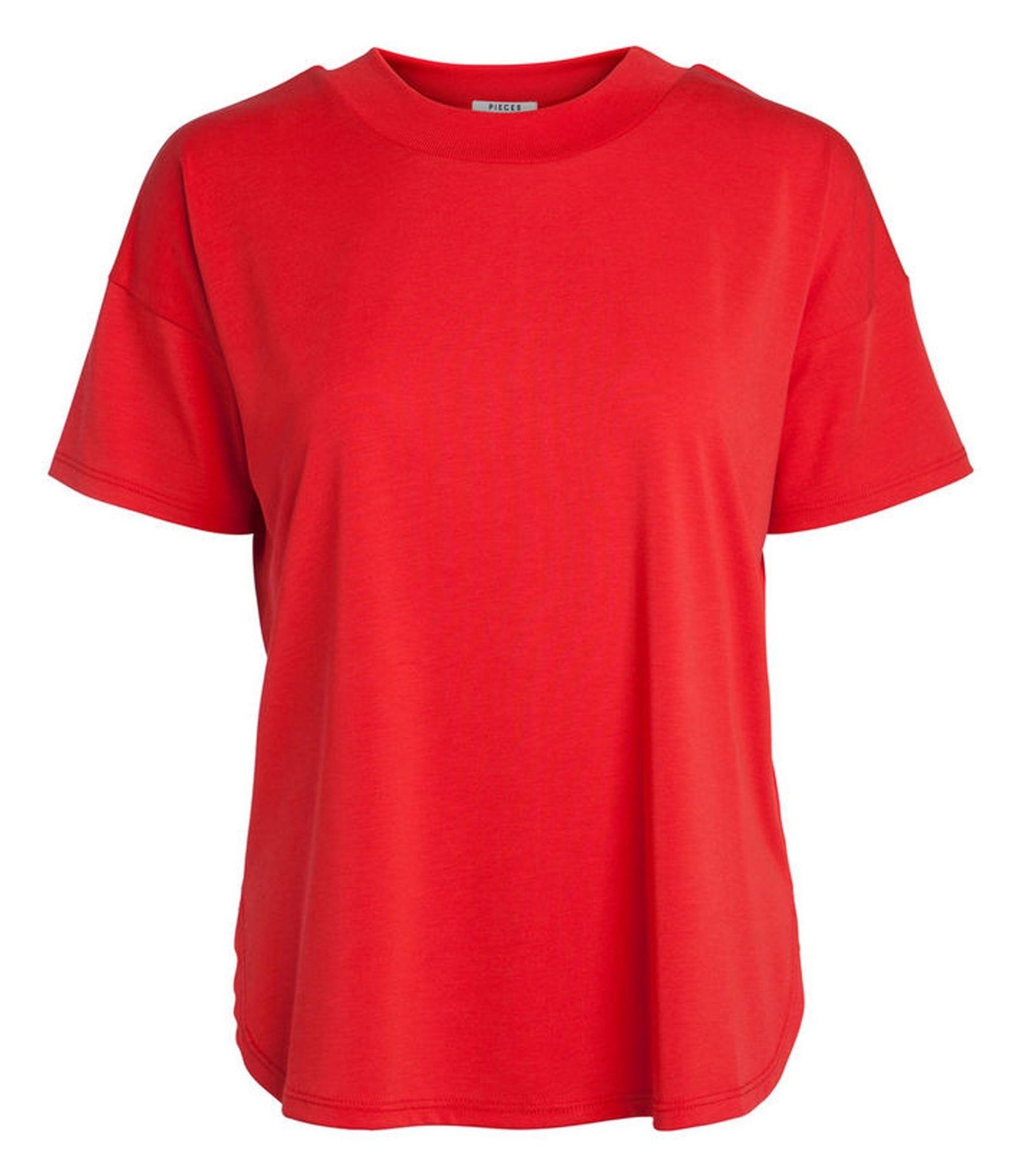 تی شرت یقه گرد زنانه - پی سز - قرمز - 1
