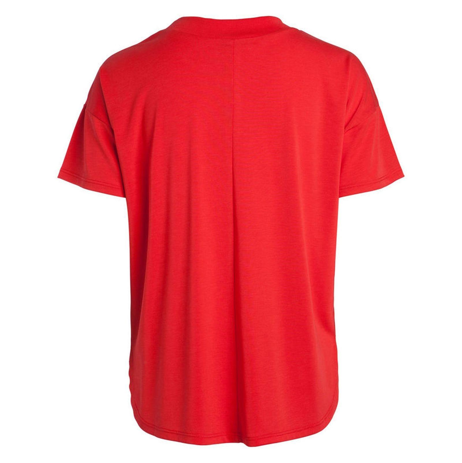 تی شرت یقه گرد زنانه - پی سز - قرمز - 2