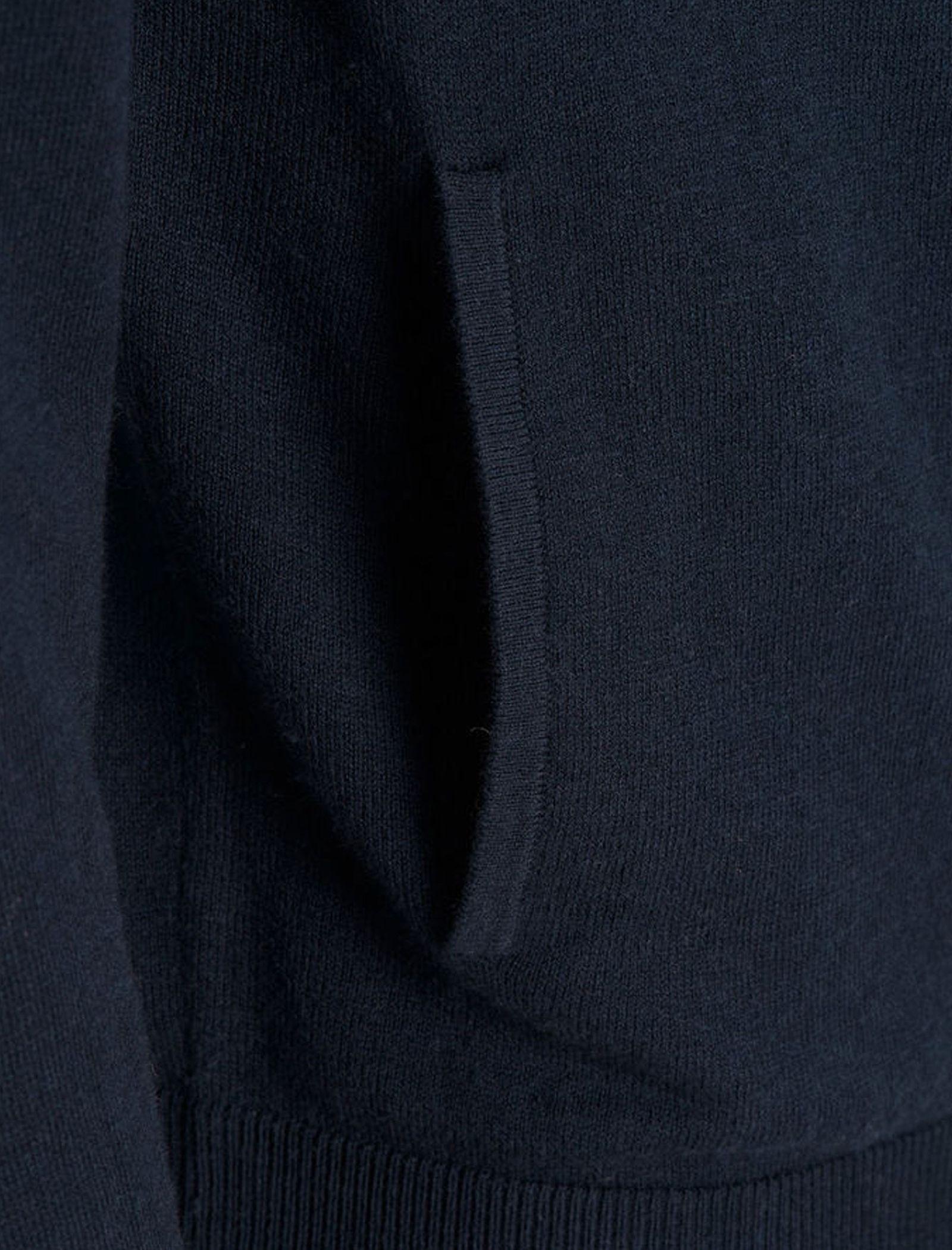 سویشرت نخی زیپ دار مردانه - جک اند جونز - سرمه اي - 5