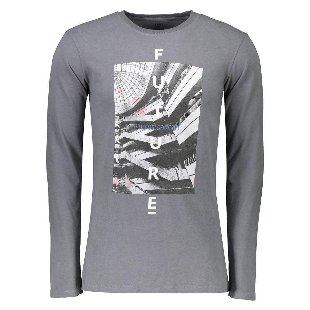 تی شرت نخی یقه گرد مردانه - تیفوسی