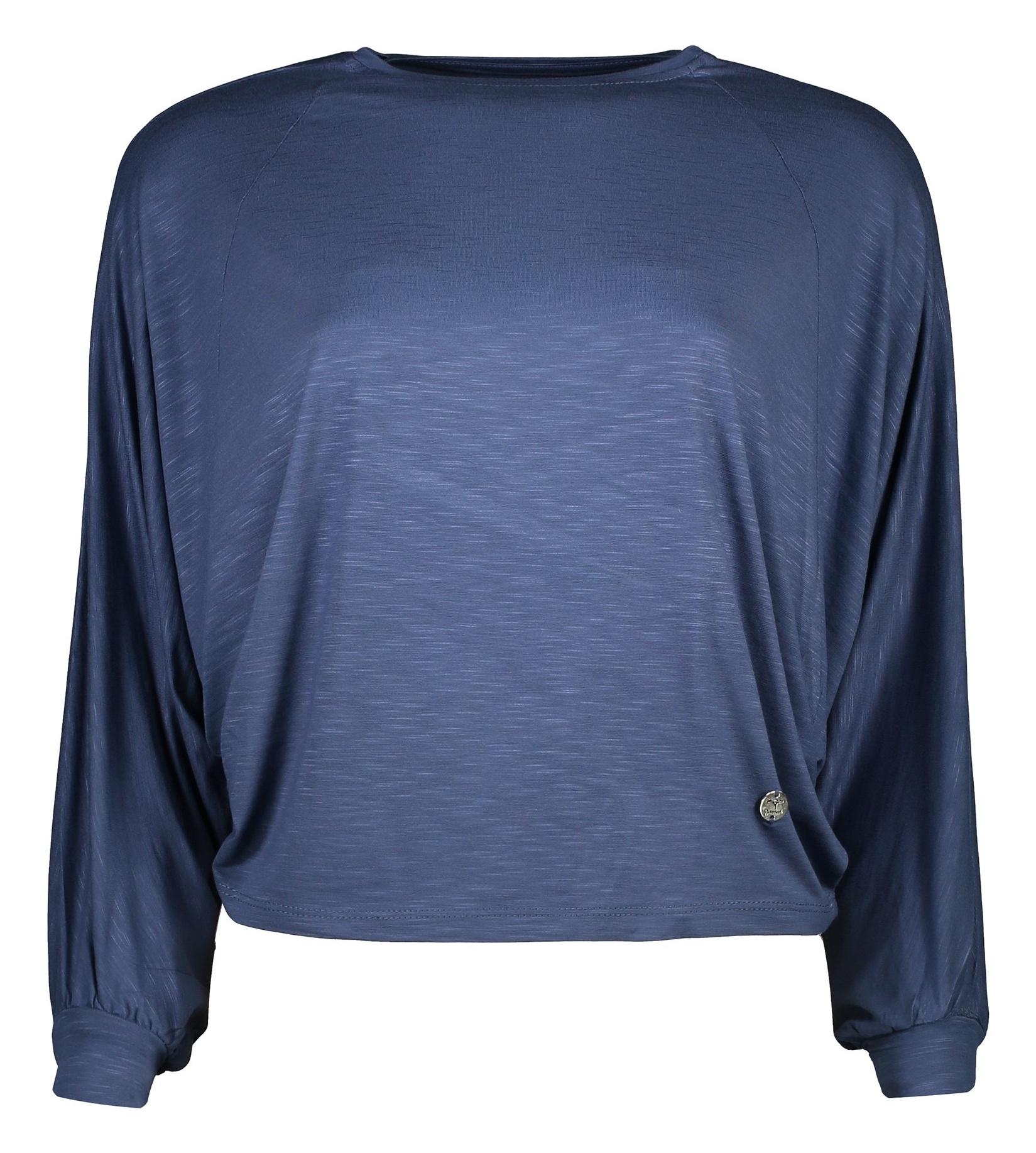 تی شرت ویسکوز آستین بلند زنانه - گارودی - آبي نفتي - 1