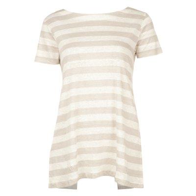 تصویر تی شرت نخی یقه گرد زنانه – استفانل