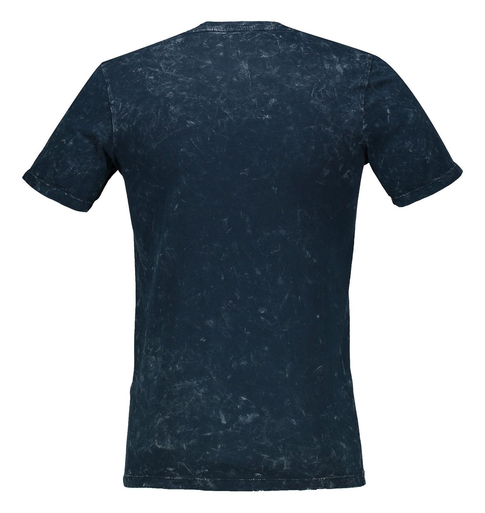 تی شرت نخی یقه گرد مردانه - جک اند جونز - آبي تيره - 2