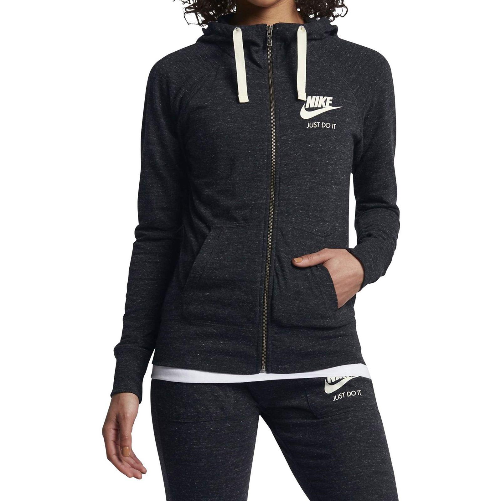 هودی نخی زیپ دار دخترانه Sportswear Vintage - نایکی - مشکي - 3